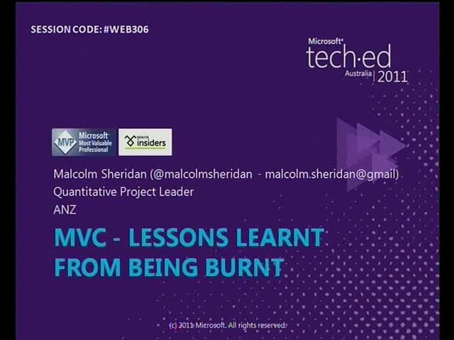 MVC - Lessons Learnt From Being Burnt