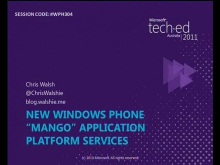 New Windows Phone 7.5 Application Platform Services