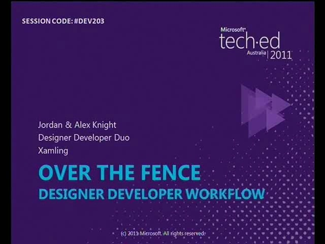 Over the Fence - Designer Developer Worflow