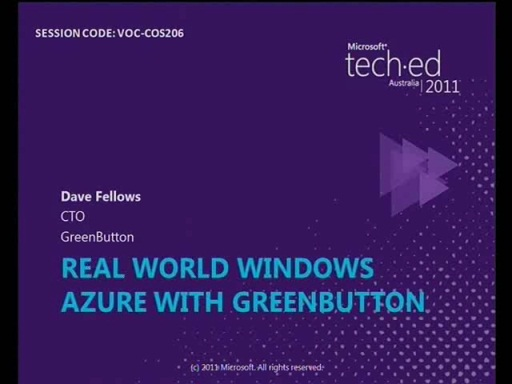 Real World Windows Azure from GreenButton