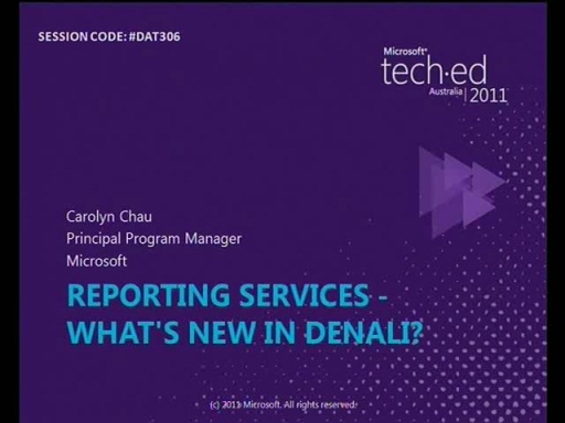 Reporting Services - What's New in Denali?