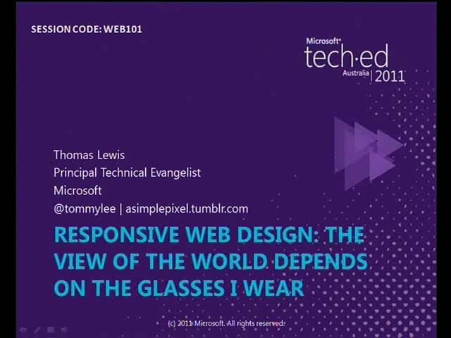 Responsive Design - The View of the World Depends on the Glasses I Wear