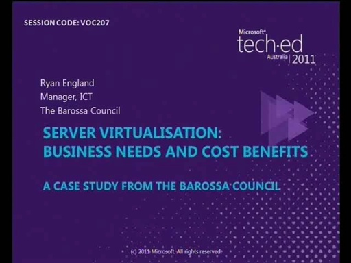 Server Virtualisation: Business Needs and Cost benefits.