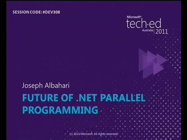 The Future of .NET Parallel Programming