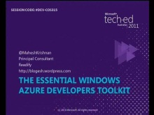 The Essential Windows Azure Developers Toolkit