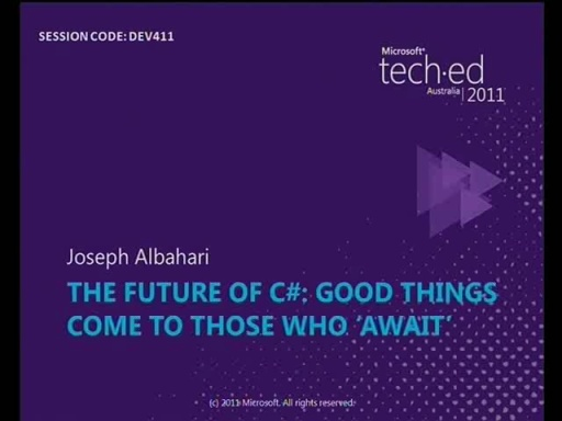 The Future of C#: Good things come to those who 'await'