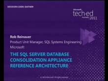 The SQL Server Database Consolidation Appliance
