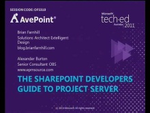 The SharePoint Developers Guide to Project Server 2010