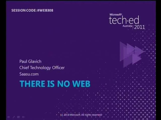 There is no Web: HTML5 Offline, NoSQL and MVC 3