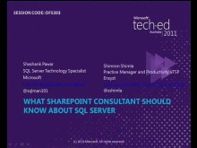 What SharePoint consultants should know about SQL Server