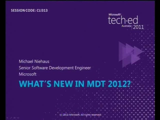 What's new in MDT 2012?