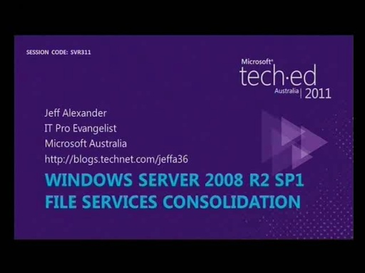 Windows Server 2008 R2 File Services Consolidation: Technology Update
