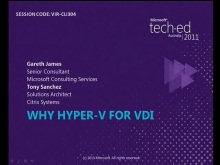 Why Hyper-V for VDI?
