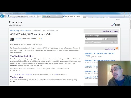 endpoint.tv - ASP.NET WF4 / WCF and Async Calls