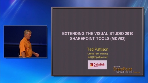 Extending the Visual Studio 2010 SharePoint Tools by Ted Pattison