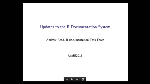 Updates to the Documentation System for R