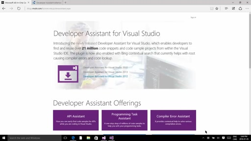 Finding Code Samples in Visual Studio with Developer Assistant