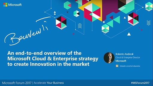 An end-to-end overview of the Microsoft Cloud & Enterprise strategy - Teatro C&E
