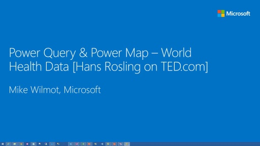 Power BI: Understanding World Health data with Power Query and Power View