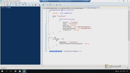 Demo: Securing a .MOF File