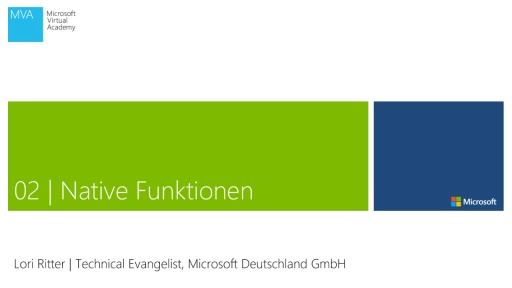 02 | Native Funktionen in dem Web App Template