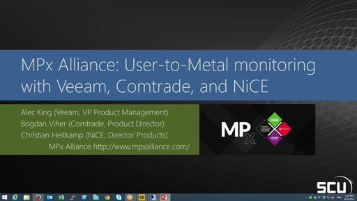 MPx Alliance: User-to-Metal monitoring with Veeam, Comtrade and NiCE