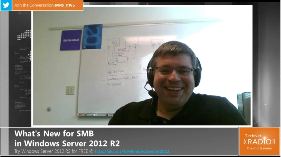 TechNet Radio: What's New in SMB for Windows Server 2012 R2