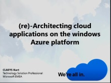 (Re-)Architecting Cloud applications on the Windows Azure Platform
