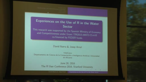 Experiences on the Use of R in the Water Sector