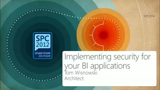 Deep Dive on Implementing Security for your BI Applications