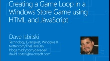 Creating a Game Loop in a Windows Store Game using HTML and JavaScript