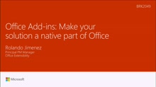 Make your app a native part of Office with Office Add-ins