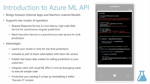 Introduction to Azure ML API  Service