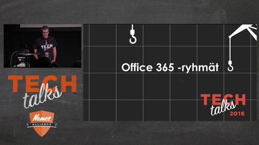 Tech Talks 2016 Plantronics Stage Office 365 -  Ryhmät