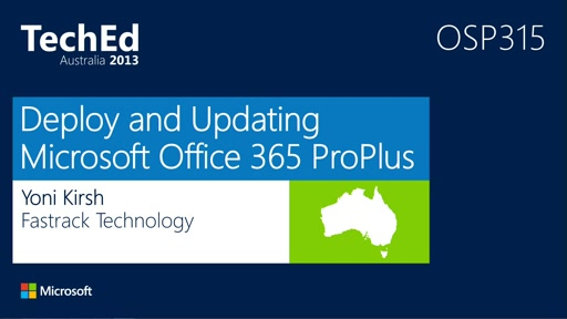 Deploy and Updating Microsoft Office 365 ProPlus Click-ToRun