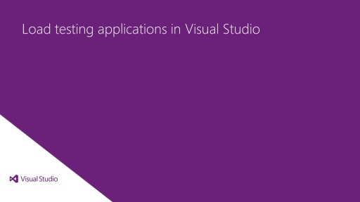 Load testing applications in Visual Studio