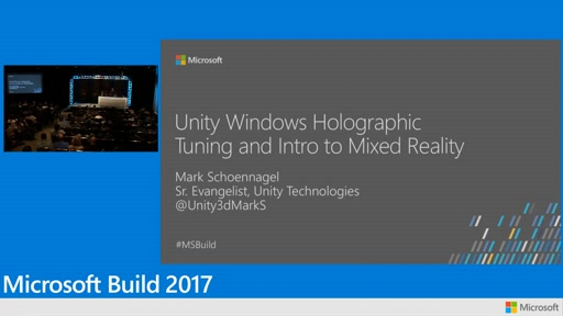 Unity and Windows holographic tooling and intro to mixed reality