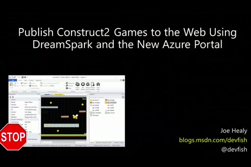 Construct2 Game to Web using the New Azure Portal