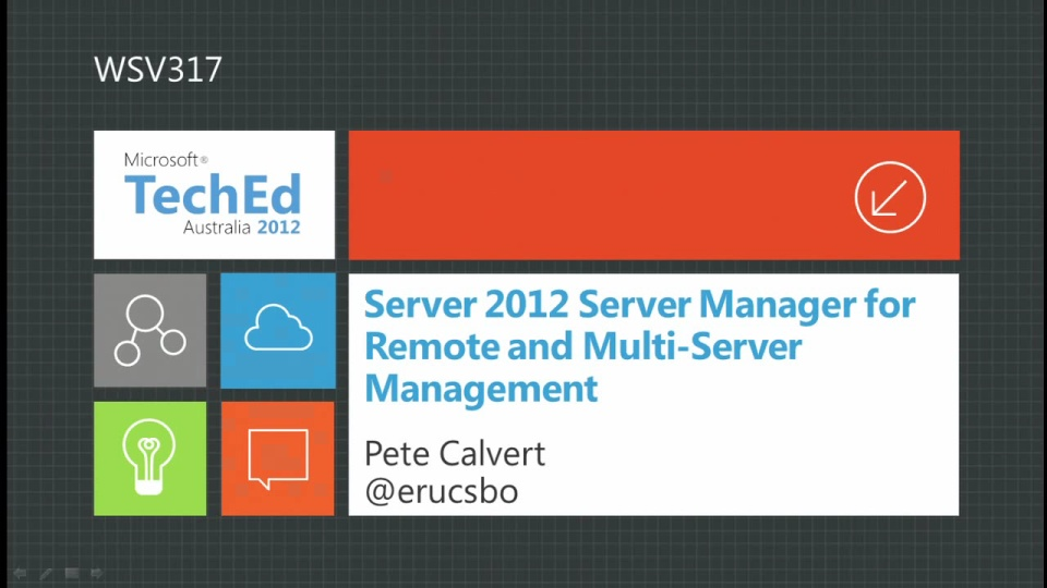 WS2012 Server Manager for Remote and Multi-Server Mgt