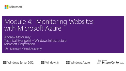 (Module 4) Monitoring Websites with Microsoft Azure