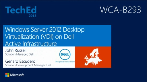 Microsoft Server 2012 Desktop Virtualization (VDI) on Dell Active Infrastructure