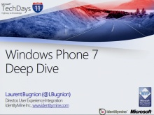TechDays 11 Basel - Windows Phone 7 Deep Dive