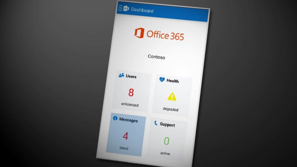 Overview of the Office 365 Admin app for phones