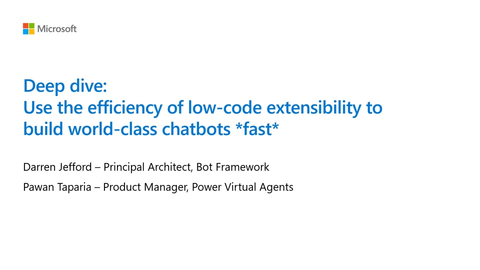 Use the Efficiency of Low-Code with the Extensibility to Azure to Design World-Class Chatbots