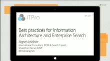 Best practices for Information Architecture and Enterprise Search