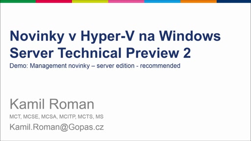 Novinky v Hyper-V na Windows Server TP 2 - Remote Management