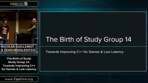 Birth of Study Group 14: Towards Improving C++ for Game and Low Latency