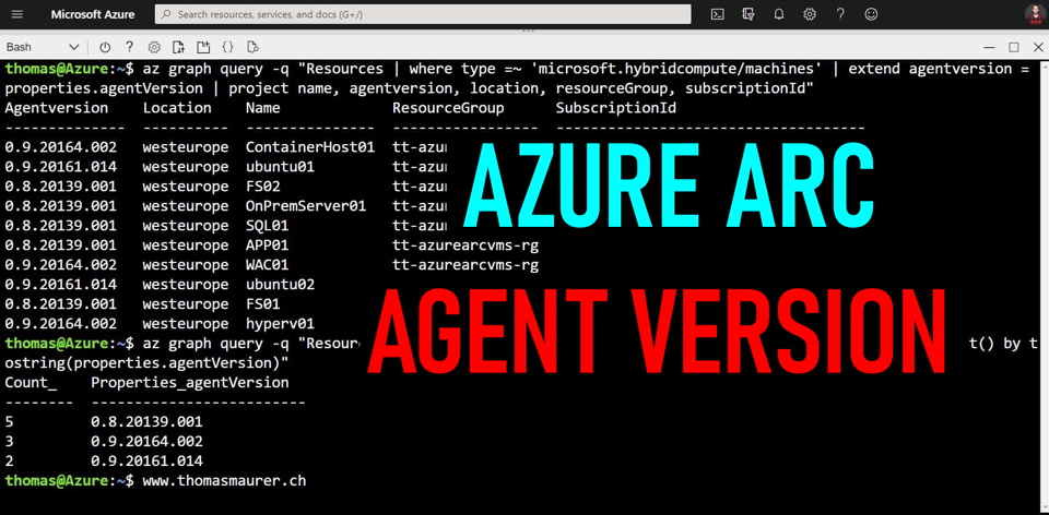 Get the Azure Connected Machine Agent (Azcmagent) Version - Azure Arc