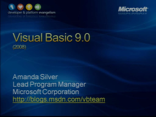 VS2008 Training Kit: What's new in Visual Basic 9.0?