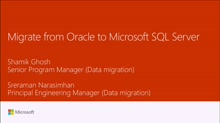 Migrate from Oracle to Microsoft SQL Server